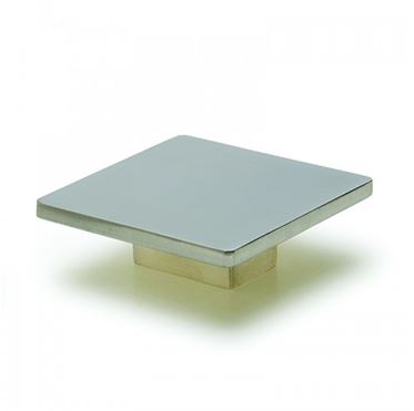 Square Knob - Brushed Satin Nickel -80mm
